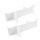 Emuca Set verstellbarer Trennelemente Schublade organisieren, 600 mm, Aluminium, weiß