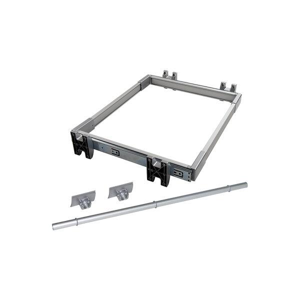 Emuca Ausziehbarer Hosenbögel, regulierbar, für Modul 600 mm, 7 Stangen, Aluminium und Stahl, Matt eloxiert
