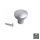 Emuca Möbelknopf, D. 25 mm, Aluminium, Matt eloxiert, 25 St.