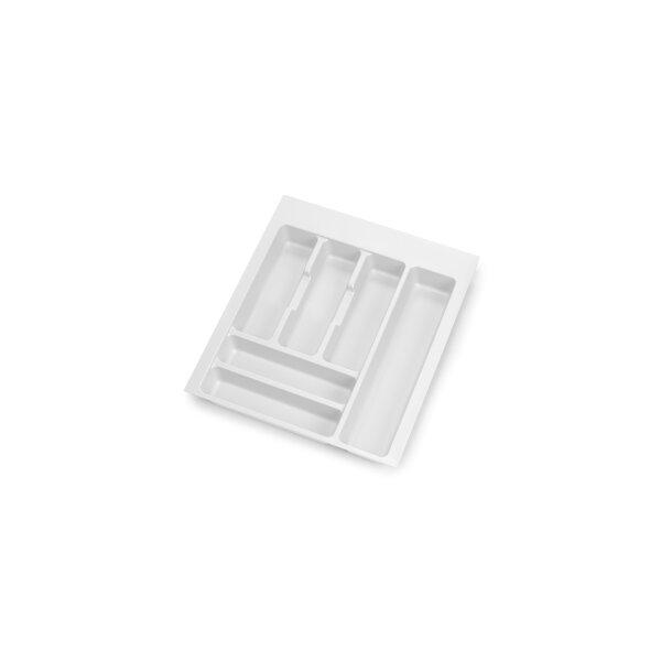 Emuca Besteckfach Optima für Küchenschublade Vertex/Concept 500, Modul 450 mm, Spanplatte 16mm, Kunststoff, Weiß