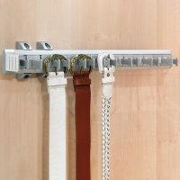 Emuca Ausziehbarer seiticher Gürtelhalter für Schränke, 447 mm, Aluminium und Kunststoff, Matt eloxiert