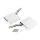 Emuca Klappenhalter für Hubtür, Kraft 1800-3500, Stahl und Kunststoff, Weiß