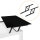 Emuca 2er-Set Hebemechanismen für Couchtische, Schwarz lackiert, Stahl