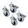 Emuca Rollen mit Gewindestift M8, D. 50 mm, Stahl und Kunststoff, Grau, 4 St.