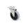 Emuca Rollen mit Anschraubplatte, D. 100 mm, Stahl und Kunststoff, Grau, 4 St.