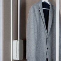 Emuca Abstandhalter für ausziehbare Kleiderstange, Kunststoff, Weiß, 2 st.