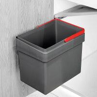 Emuca Recycle-Mülleimer, 15 Liter, Befestigung an...