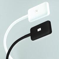 Emuca LED-Wandleuchte Kuma, quadr., flex. Arm, Touch-Sensor, 2USB, naTürl. weißes Licht, Kunststoff, Weiß, 2 St.