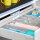 Emuca LED-Einbauleuchte batteriebetrieben, für Schubladeninnenseiten, Vibrationssensor, Kunststoff, Grau metallic
