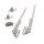Emuca Klappenhalter-Set für Truhentüren NSDX, Kraft 20-70 kg x cm, Stahl und Zamak, Vernickelt