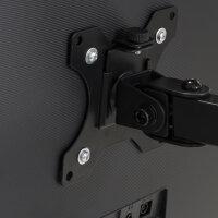 Emuca Monitorständer 13 bis 32 Zoll für Tisch, bis 8 kg, MAX VESA 75x75mm-100x100 mm, Stahl, schwarz
