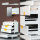 Emuca Schubladen-Kit für Küche Vantage-Q, H. 204 mm, T. 450 mm, mit Relingen, sanftes Schließen, Stahl, Weiß
