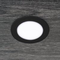 Emuca LED Einbauleuchte Mizar für Möbel, Durchmesser 66 mm, kein Spannungswandler benötigt, Stahl und Kunststoff, Nickel satin