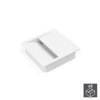 Emuca Kabeldurchlass für Tische, quadratisch, 85 x...