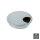 Emuca Kabeldurchlass rund, D. 80 mm, zur Einbettung in Möbel, Zamak, Matt verchromt, 7 St.