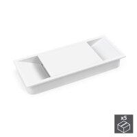 Emuca Kabeldurchlass für Tische, rechteckig, 152 x...
