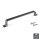 Emuca Möbelgriff, Achsabstand 160 mm, Zamak, Farbe Titanium, 20 St.