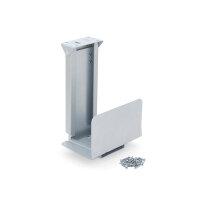 Emuca Stütze für Rechner, Stahl, Grau metallic