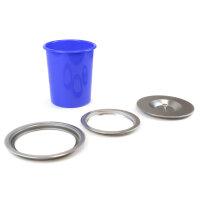 Emuca Eingebauter Mülleimer für Küchenarbeitsplatte, 6L, Edelstahl und Kunststoff