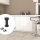Emuca Nivellierfuß mit vormontiertem Böden für Möbel, höhenverstellbar 118-135 mm, Kunststoff, Schwarz, 4 St.