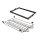 Emuca Metallschuhfach-Kit mit Korb und regulierbaren Führungen, für Modul 800 mm, Stahl und Aluminium, Farbe Mokka