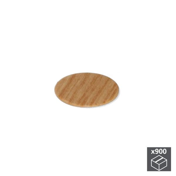 Emuca Abdeckkappe für Schrauben, selbstklebend, D. 20 mm, Farbe Eiche, 900 St.