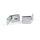 Emuca GlasTürscharnier-Set, Innenkante, 4-5 mm Glasdicke, Zamak, Matt verchromt, 2 St.
