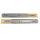 Emuca Satz Führungen für Schublade, Kugelauszug, 45 x 350 mm, Vollauszug, sanftes Schließen, Verzinkt