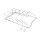 Emuca Deckelhalter mit 5 Fächern, Stahl, verchromt