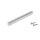 Emuca Möbelgriff, Achsabstand 128 mm, Aluminium, Matt eloxiert