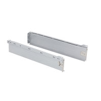 Emuca Schubladen-Kit für Küche Ultrabox, H. 86 mm, T. 450 mm, Stahl, Grau metallic