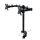 Emuca Doppelter Monitorständer 13 bis 32 Zoll für Tisch, bis 8 kg pro Arm, MAX VESA 75x75mm-100x100 mm, Stahl, schwarz