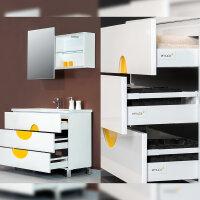 Emuca Schubladen-Kit für Küche Vantage-Q, H. 204 mm, T. 500 mm, mit Relingen, sanftes Schließen, Stahl, Grau metallic