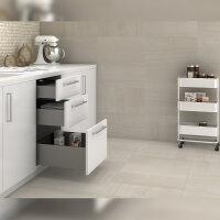 Emuca Schubladen-Kit für Küche Concept, H. 185 mm, T. 500 mm, sanftes Schließen, Stahl, Anthrazit