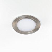 Emuca LED Einbauleuchte Mizar für Möbel, Durchmesser 84 mm, kein Spannungswandler benötigt, Stahl und Kunststoff, Matt Schwarz