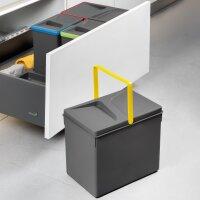 Emuca Behälter für Küchenschublade, H216, 2x12L, Anthrazitgrau