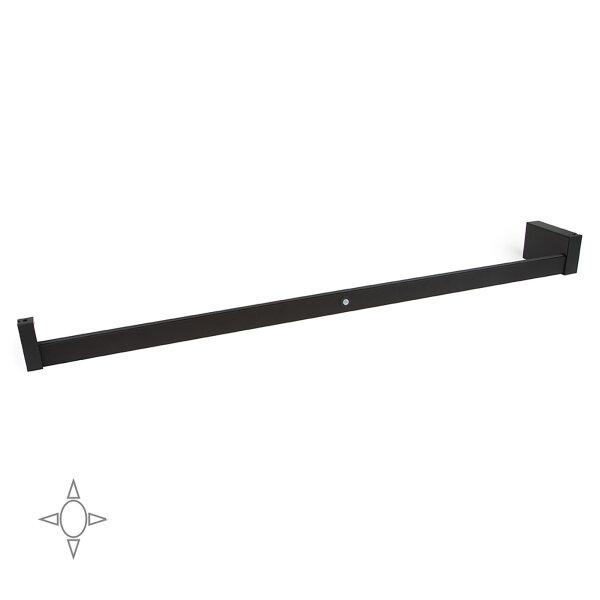 Emuca Schrankstange Castor mit LED-Licht, regulierbar 1.008-1.158 mm, Bewegungssensor, Aluminium, Farbe Mokka